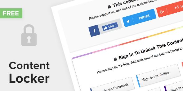 Content Locker – Free WP Plugin