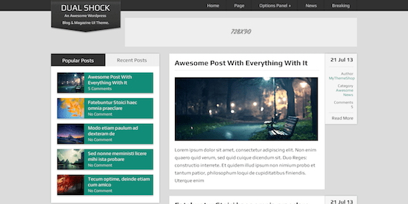 DualShock FREE WordPress Blogging Theme