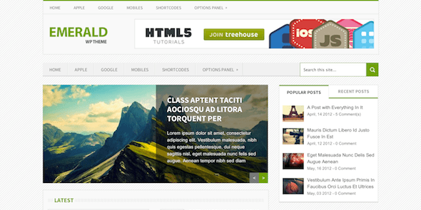 Emerald  Magazine WordPress Theme