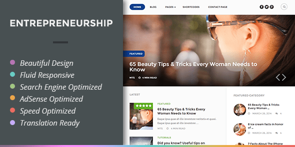 Entrepreneurship flexible multipurpose theme