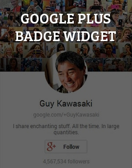Google Plus Badge Widget