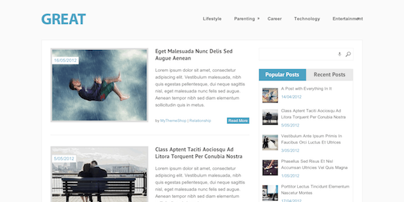 Great Magazine WordPress Theme