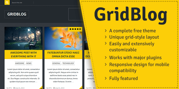 GridBlog - Beautiful & Modern, Free WordPress Theme @ MyThemeShop