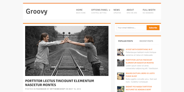 Groovy  WordPress Blog Theme