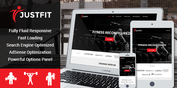 Responsive WordPress Theme Built For Fitness, Exercise and Health Enthusiasts