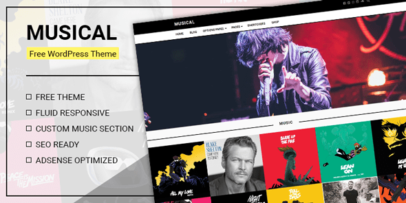 Musical – Free WordPress Theme