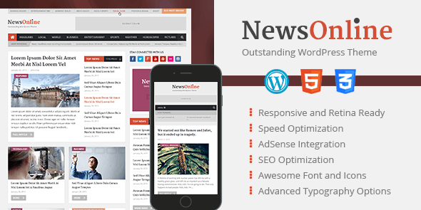 NewsOnline: Beautiful & Professional WordPress Magazine Theme