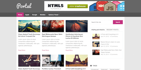 Portal Magazine WordPress Theme