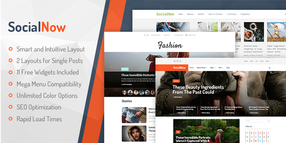 SocialNow - Fully Responsive WordPress theme