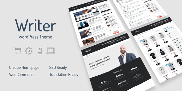 Writer – Professional WordPress Theme for Writers