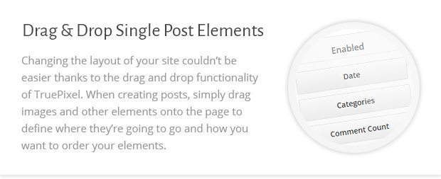 Drag n Drop Single Post Elements