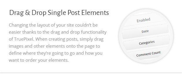 Drag n Drop Single Post Elements