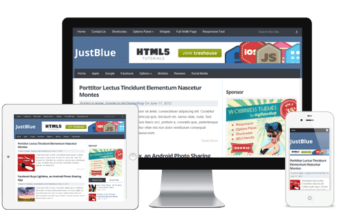 JustBlue WordPress Theme