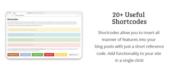20 Plus Useful Shortcodes