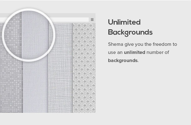 Schema gives you freedom to use any kind of Background image.
