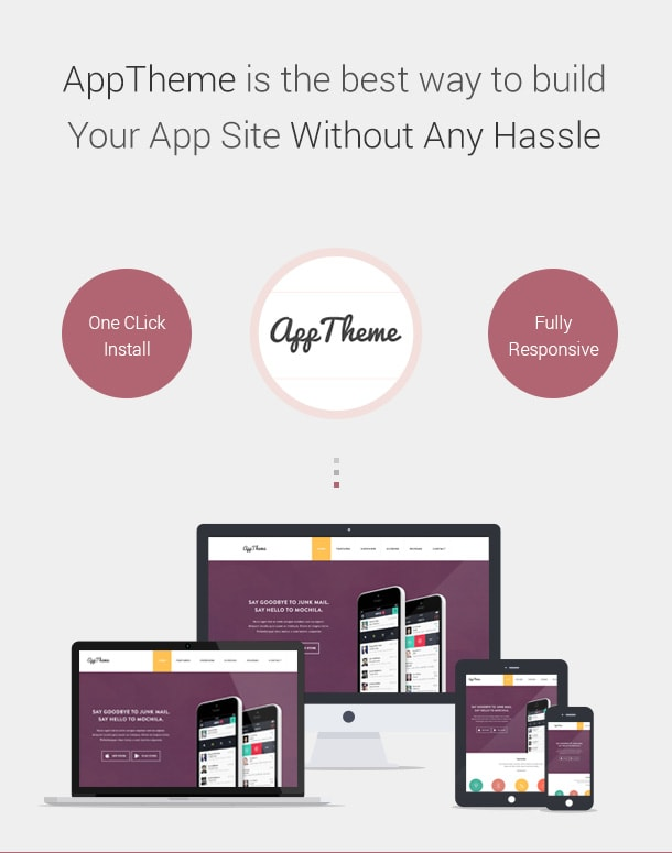 AppTheme is a simple yet effective solution to build your app or company site.
