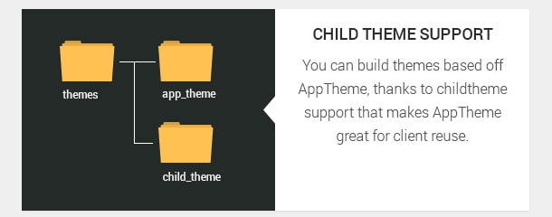You can build themes based off AppTheme, thanks to child theme support that makes AppTheme great for client reuse.