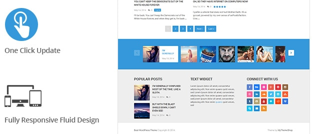 One Click Update. Fully Responsive Fluid Design.