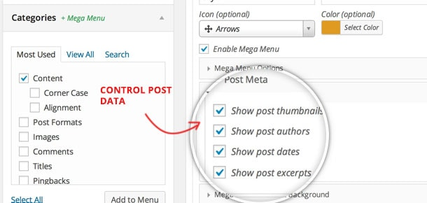 WP Mega Menu Plugin Settings 2