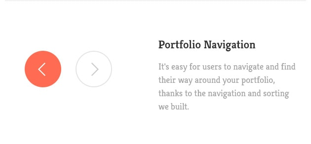 It's easy for users to navigate and find their way around your portfolio, thanks to the navigation and sorting we built.