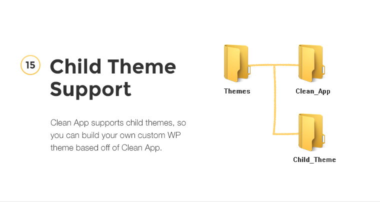 CleanApp supports child themes, so you can build your own custom WP theme based off of CleanApp.