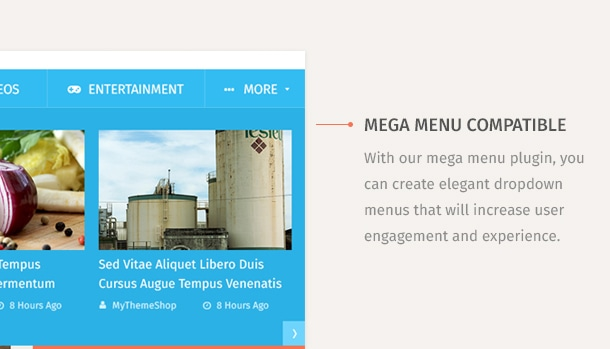 With our mega menu plugin, you can create elegant dropdown menus that will increase user engagement and experience.