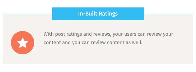 With post ratings and reviews, your users can review your content and you can review content as well.