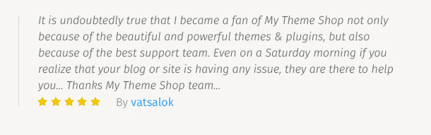 MyThemeShop Testimonial 9