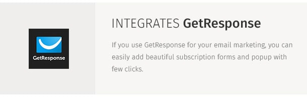 If you use GetResponse for your email marketing, you can easily add beautiful subscription forms and popup with few clicks.