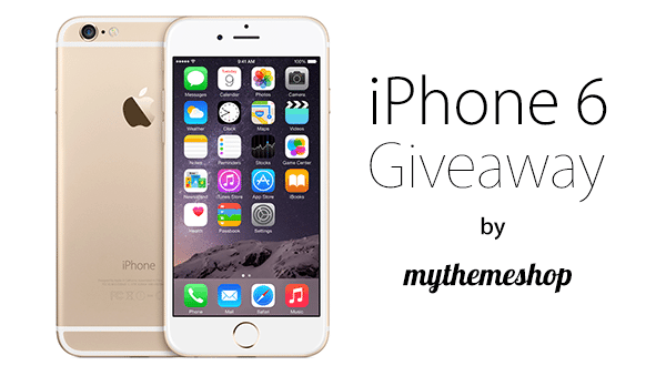 iPhone 6 Giveaway by MyThemeShop