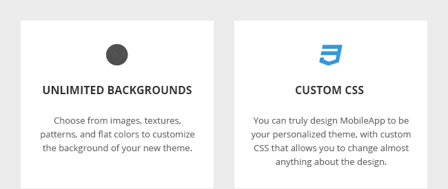 Unlimited Backgrounds and Custom CSS