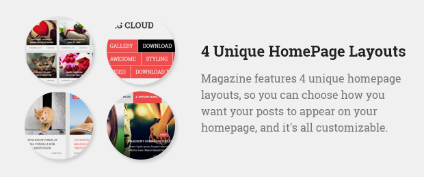 4 Unique Homepage Layouts