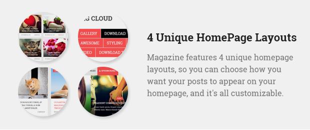 4 Unique Homepage Layouts