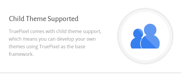 Child Theme Supported