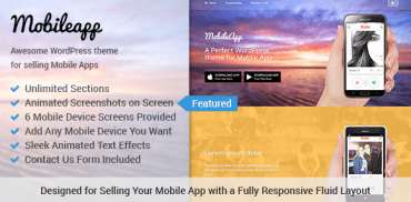 Mobileapp WordPress Theme