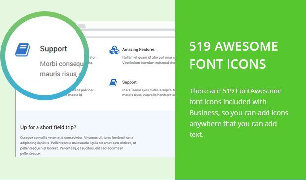 519 Awesome Font Icons