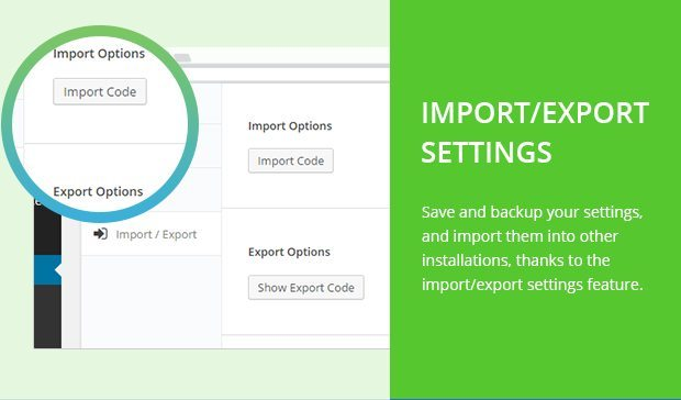 Import Export Settings