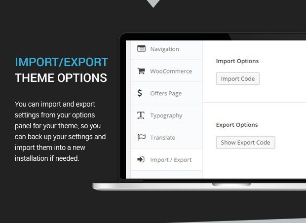 Import Export Theme Options