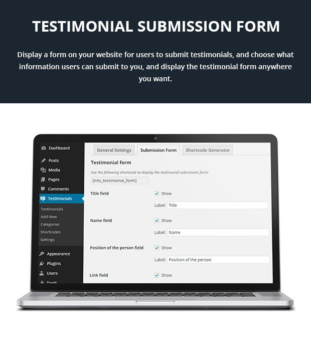 Testimonial Submission Form