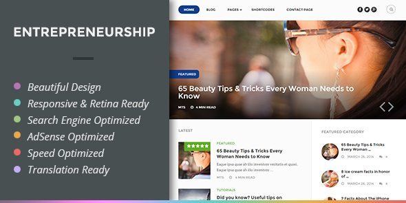 entrepreneurship wordpress theme