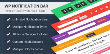 WP Notification Bar Plugin