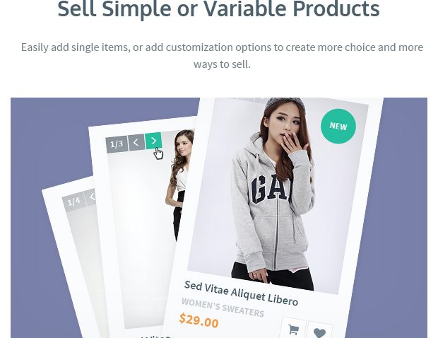 Sell Simple or Variable Products
