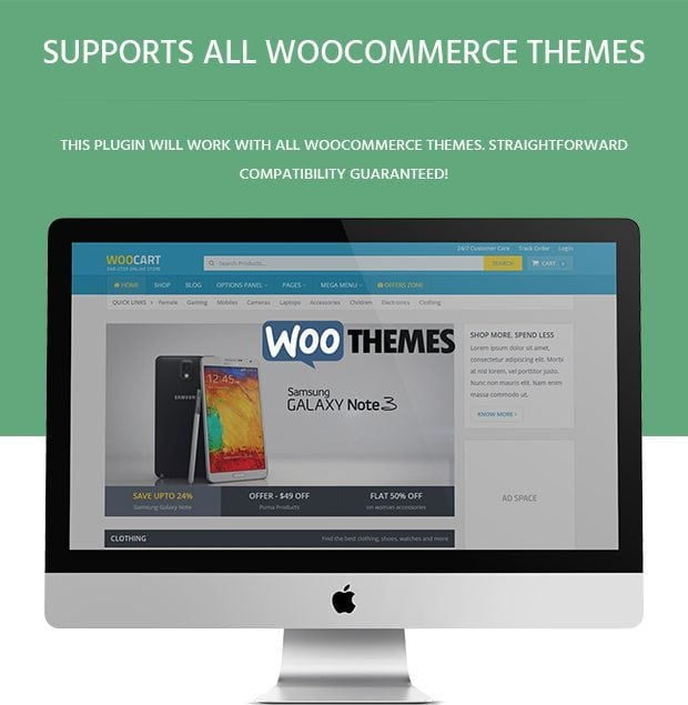 Supports All Woocommerce Themes