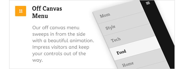 Off Canvas Menu