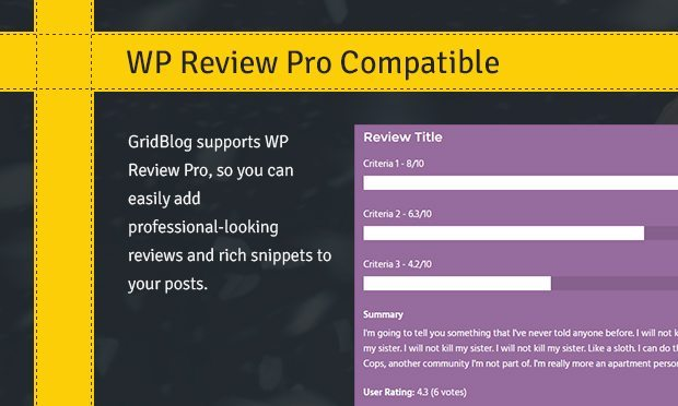 WP Review Pro Compatible