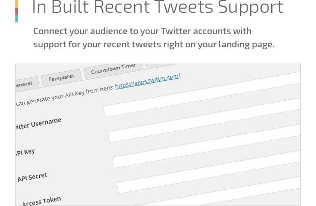 In Built Recent Tweets Support
