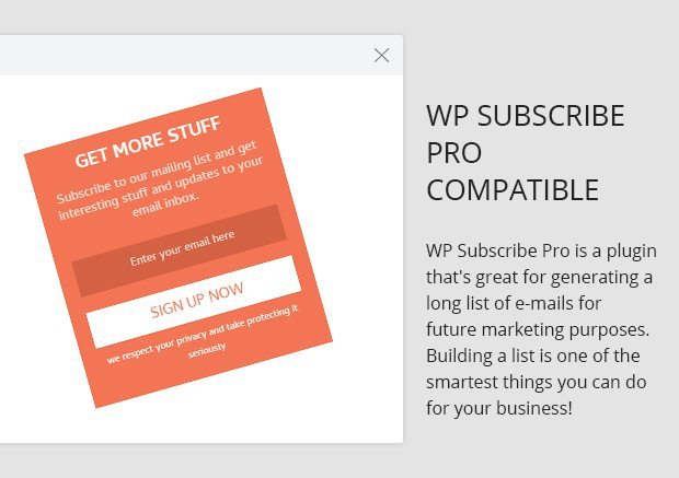 WP Subscribe Pro Compatible