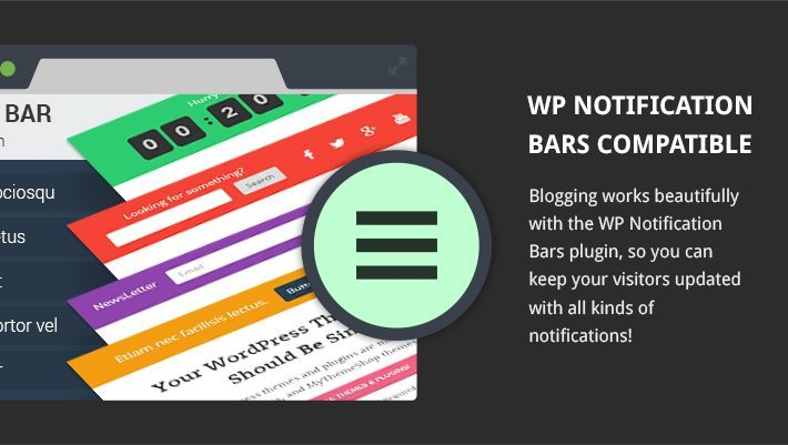 WP Notification Bars Compatible