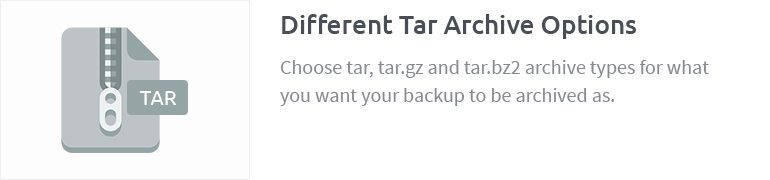 Different Tar Archive Options