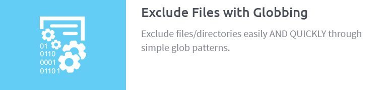 Exclude Files with Globbing